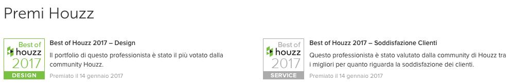 Premi 2017 IDEeA novità Interior Design Torino Houzz