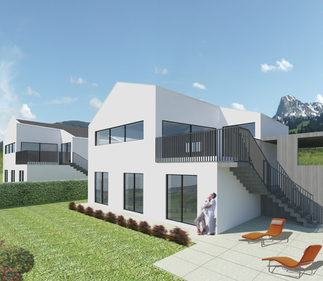 Ideea interior design e architettura mezzi piani vuadens - Ingressi case moderne ...