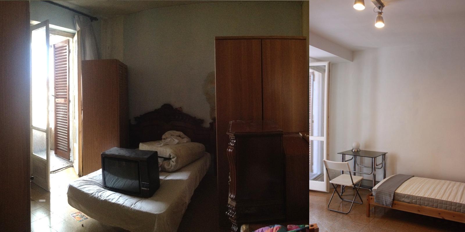 IDEeA Interior design Torino Aurora ristrutturare 50 mq camera