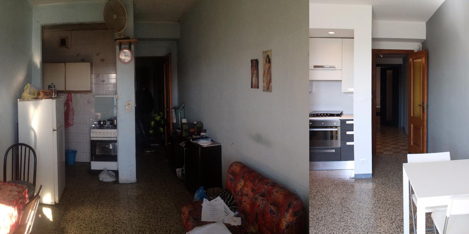 IDEeA Interior design Torino Aurora ristrutturare 50 mq cucina