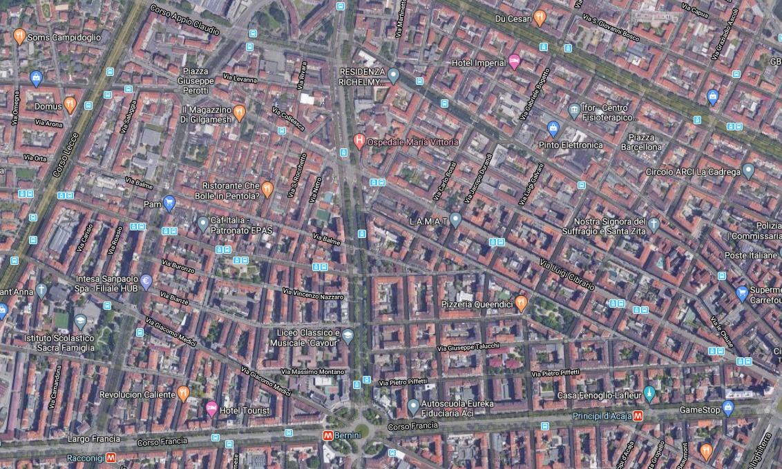 Cit Turin, immagine tratta da Google Maps